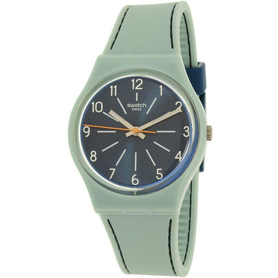 Swatch Women's Blue Dial Silicone Band Watch - GM184