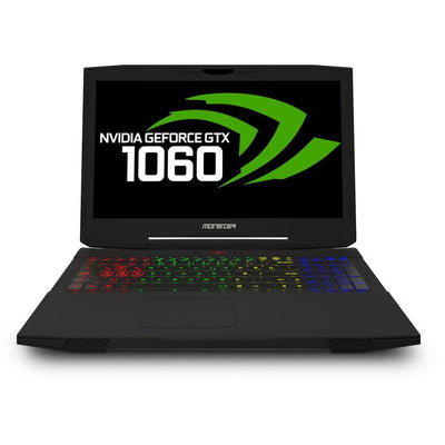 MONSTER TULPAR T5 V14.1 Gaming Laptop - Intel Kaby lake Core i7-7700HQ + HM175, 15.6 Inch FHD IPS MAT LED, 256GB SSD, 8GB RAM, 6 GB VGA-GTX-1060, Eng-Arb-Keyboard, Windows 10, Black