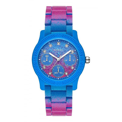 Guess Funfetti Women's Blue Dial Stainless Steel Band Watch - W0944L2