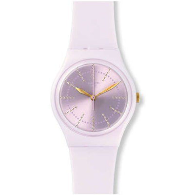 Swatch Women's Mauve Dial Silicone Band Watch - GP148
