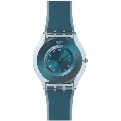Swatch Women's Blue Dial Silicone Band Watch - SFS103