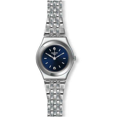 Swatch Women's Blue Dial Metal Band Watch - YSS288G