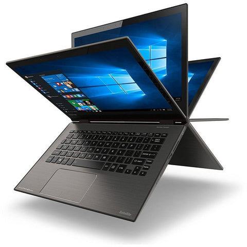 Toshiba Satellite Radius 12 Laptop - Intel Core i5-6200U, 12.5-Inch FHD, 256GB, 8GB, Eng-KB, Windows 10, Gray