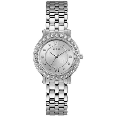 Guess Women's Silver Dial Stainless Steel Band Watch - W1062L1