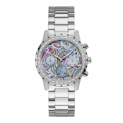 Guess Women's Multi Color Dial Stainless Steel Band Watch - W1092L1