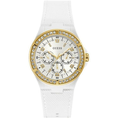 Guess Women's White Dial Stainless Steel Band Watch - W1093L1