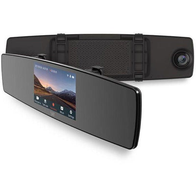 YI Mirror Dash Cam with Monitor, Front Rear View HD Camera, Touch Screen, G Sensor, Loop Recording