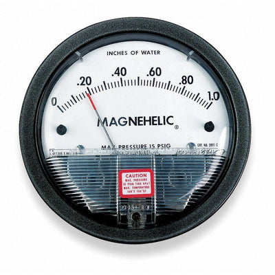 Dwyer 2002 Magnehelic Differential Pressure Gauge, Type, 0 to 2