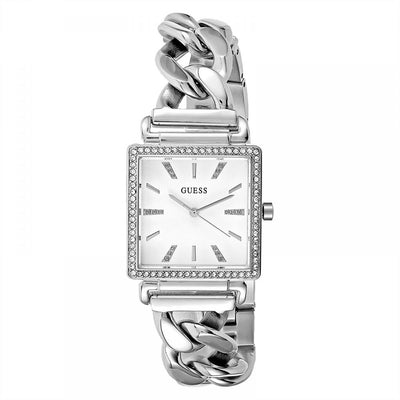 Guess Vanity Women's White Dial Stainless Steel Band Watch - W1030L1
