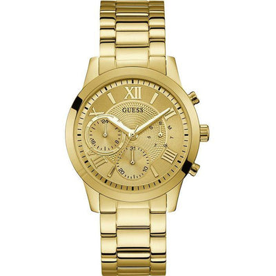 Guess Solar Women's Gold Dial Stainless Steel Band Watch - W1070L2