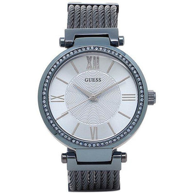 Guess Soho Women's Silver Dial Stainless Steel Band Watch - W0638L3
