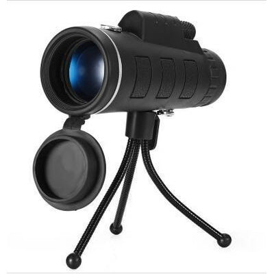 40X60 Monocular Telescope HD Night Vision Prism Scope With Phone Clip Tripod Stand
