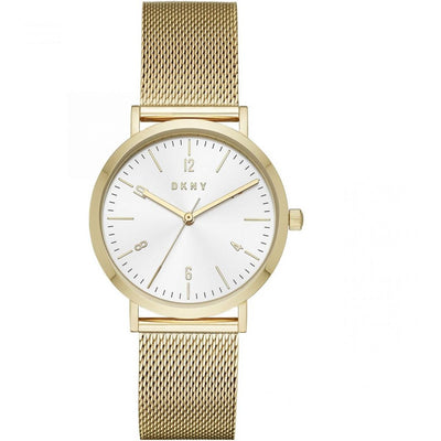 DKNY Minetta Women's White Dial Stainless Steel Band Watch - NY2742