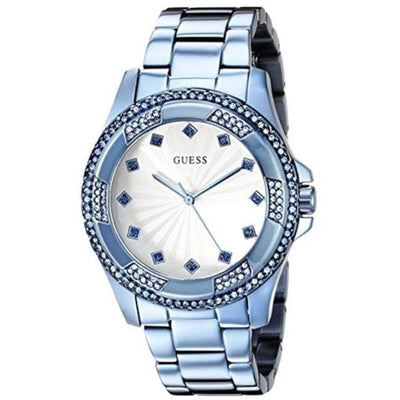 Guess Women's White Dial Stainless Steel Band Watch - W0702L1