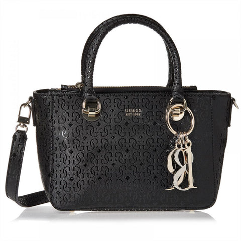 Guess Satchel Bag For Women, Black - SG711005