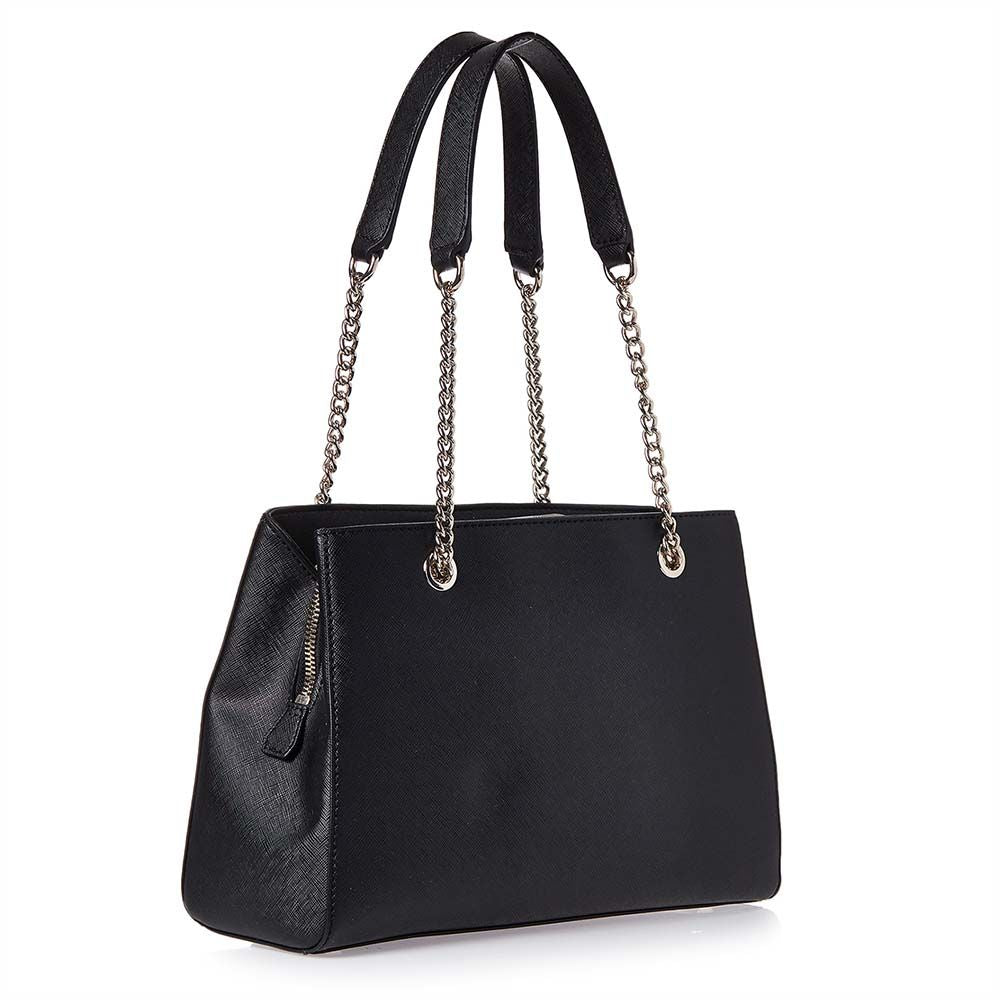 af04301e5 Guess Robyn Girlfriend Tote Bag for Women - Faux Leather, Black ...