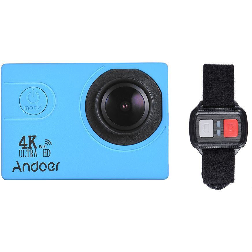 Andoer AN4000 4K 30fps 16MP WiFi Action Sports Camera 1080P 60fps Full HD  4X Zoom Waterproof 40m 2Inch LCD Screen 170° Wide Angle Lens Support Slow
