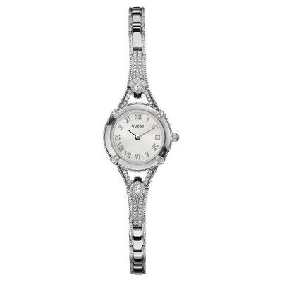 Guess For Women Silver Dial Stainless Steel Band Watch - U0135L1