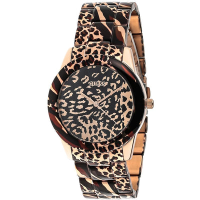 Guess Vixen Women's Brown Dial Stainless Steel Band Watch - W0425L3