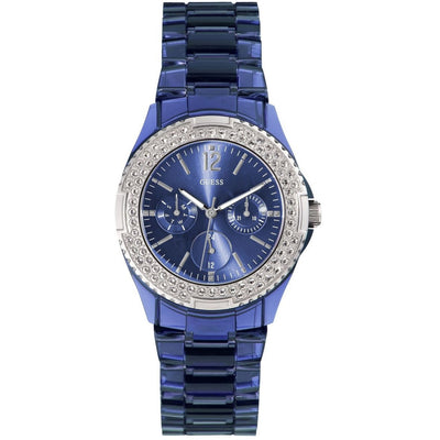 Guess Rock Candy Women's Blue Dial Plastic Band Watch - W0062L1