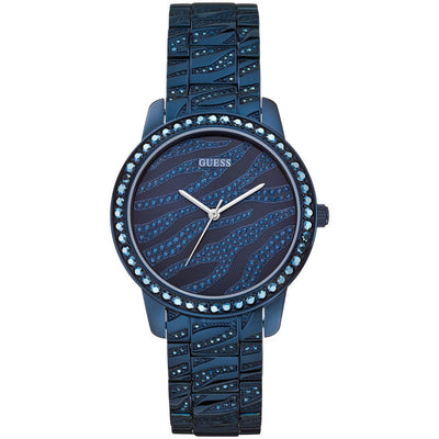 Guess Indulge Women's Blue Dial Stainless Steel Band Watch - W0502L4