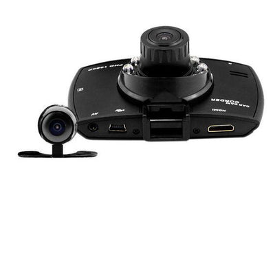 [K2452]1080P FHD H.264 Night Vision Car DVR Video Recorder Dash Camcorder Dual Camera