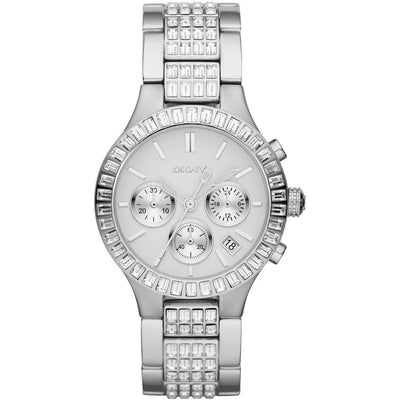 DKNY Women's Silver Dial Stainless Steel Band Chronograph Watch - NY8315