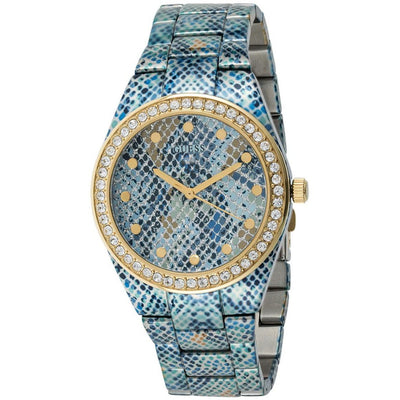 Guess Sahara Women's Blue Dial Stainless Steel Band Watch - W0583L1