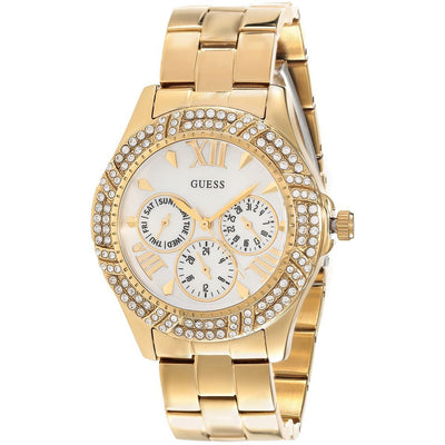 Guess Shimmer Women's Mother of Pearl Dial Stainless Steel Band Watch - W0632L2