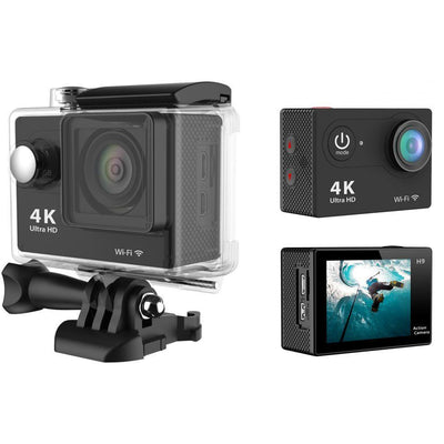 Black H9 4K Ultra HD 1080P WiFi Action Camera Camcorder Sports DV Video Recorder 30M Waterproof