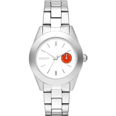 DKNY Jitney Women's White Dial Stainless Steel Band Watch - NY2131