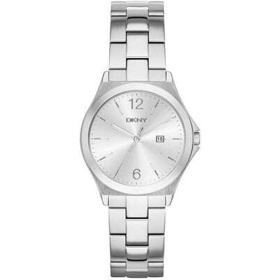 DKNY Parsons Women's Silver Dial Stainless Steel Band Watch - NY2365
