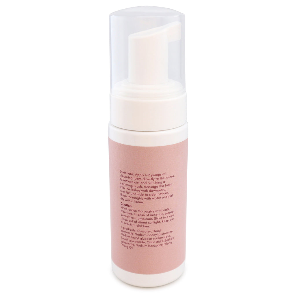 Foaming cleanser for eyelash extensions