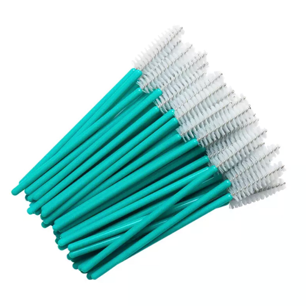 mascara wands, lash wands, mascara spoolies, 50 mascara wands for eyelash extensions, disposable lash wands