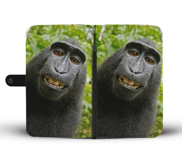 Coolest Gorilla Selfie Wallet Phone Case