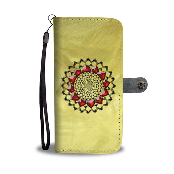 Awesome Mandala Design Wallet Phone Case