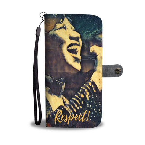 Aretha Franklin Tribute Wallet Phone Case