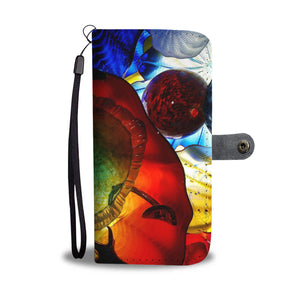 Colorful Art Glass Design Wallet Phone Case