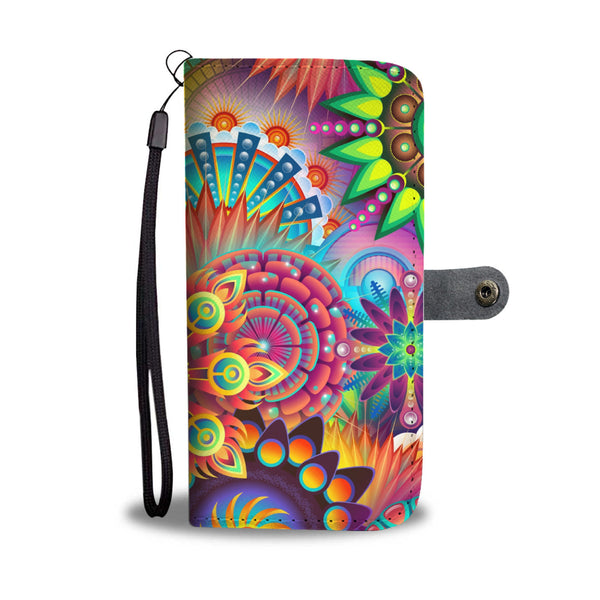 Abstract Art Wallet Phone Case