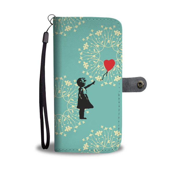Banksy Red Balloon Wallet Phone Case