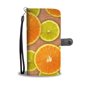 Oranges & Limes Power Wallet Phone Case