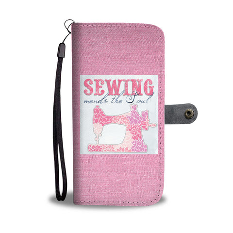 Sewing Mends The Soul Wallet Phone Case