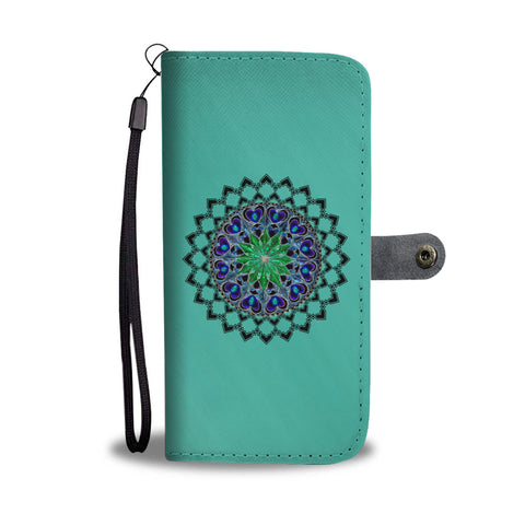 Unique Mandala Design Wallet Phone Case
