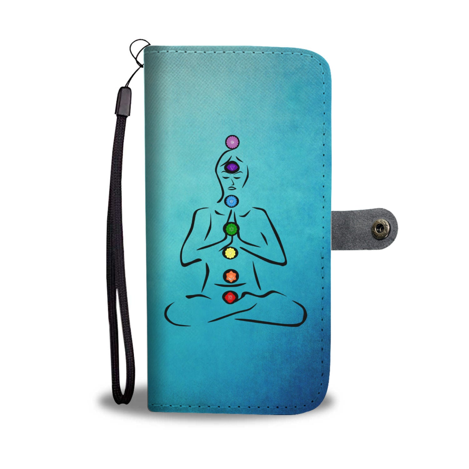 The 7 Chakras Wallet Phone Case