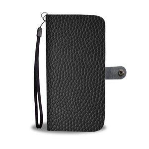 Black Leather Look - Wallet Phone Case