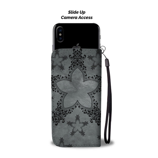 Flirty Dirty Inked Tattoo Woman Wallet Phone Case
