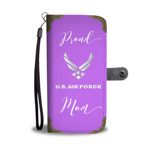 Proud U.S. Air Force Mom - Wallet Phone Case