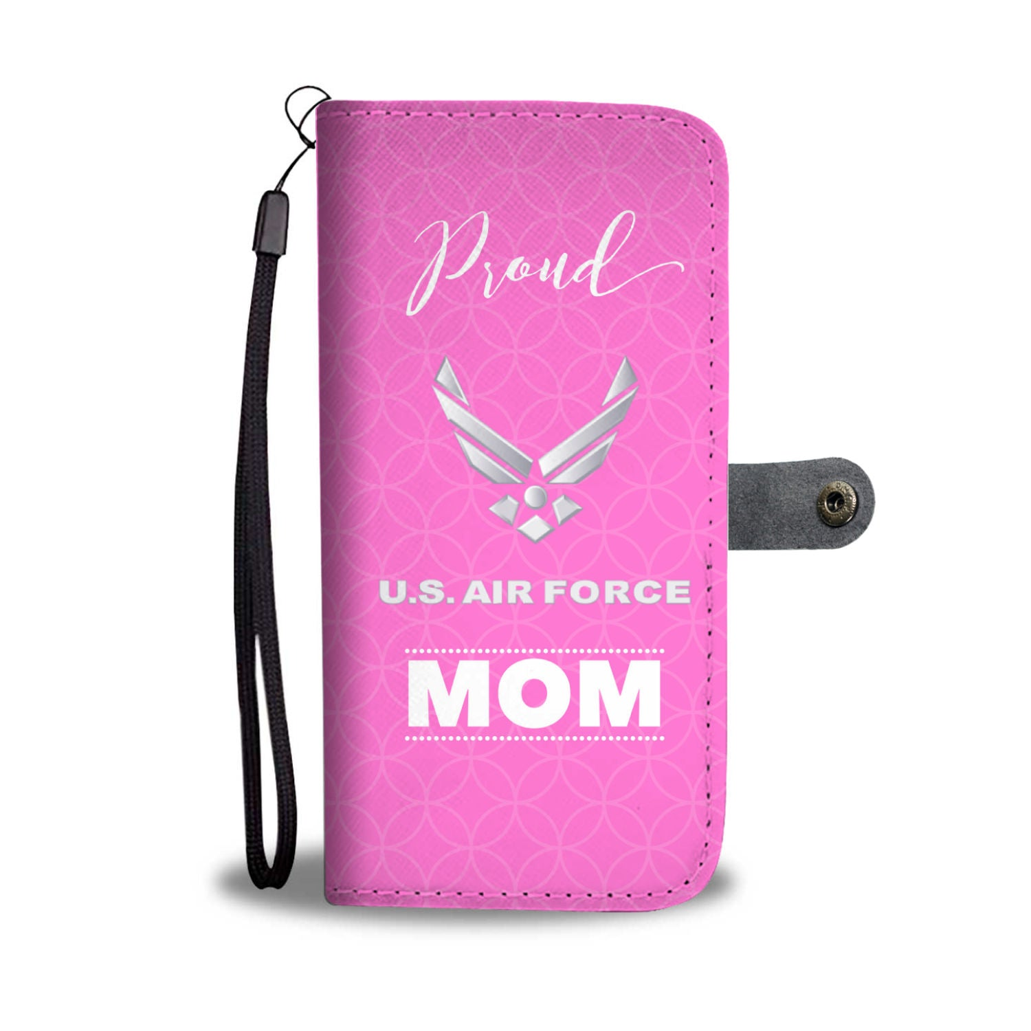 Proud U.S. Airforce Mom Wallet Phone Case