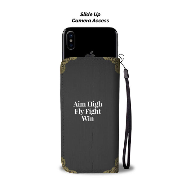 Proud U.S. Air Force Wife - Wallet Phone Case Black