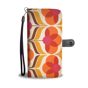 1970s Retro Pattern Wallet Phone Case 002